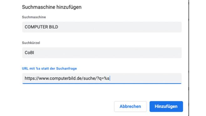 Screenshot: Suchmaschine©COMPUTER BILD