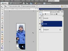 Das perfekte Facebook-Profilbild Photoshop-Vorlage: Bild einfügen, Größe an passen, abspeichern.