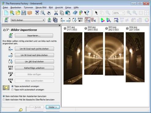 Screenshot 1 - The Panorama Factory (64 Bit)