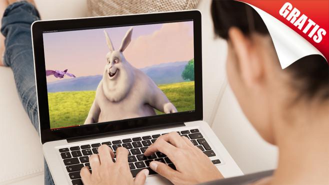 Ratgeber: Filme kostenlos downloaden Kino für umsonst? COMPUTER BILD zeigt Ihnen, wie Sie ganz leicht Filme kostenlos downloaden.©apops- Fotolia.com, Blender Foundation