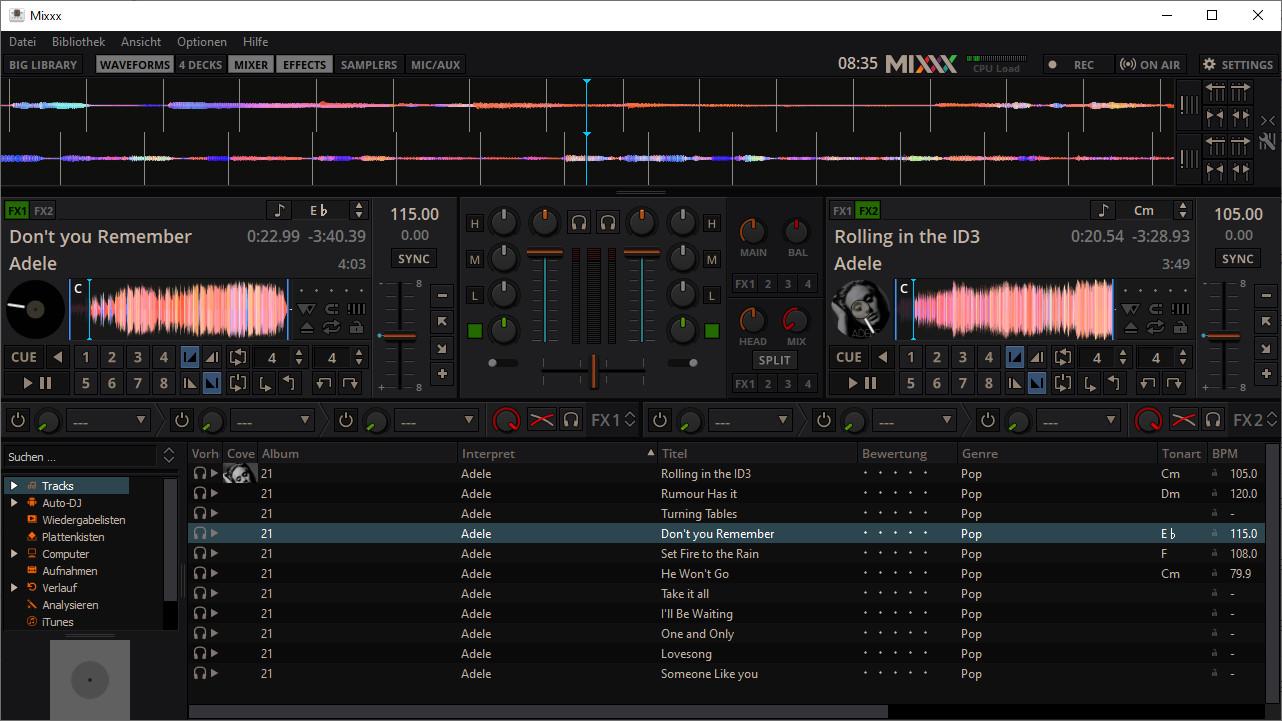 Screenshot 1 - Mixxx (64 Bit)