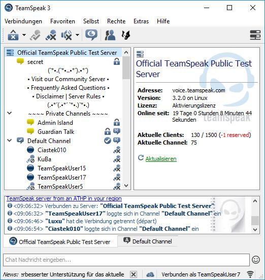 Screenshot 1 - TeamSpeak