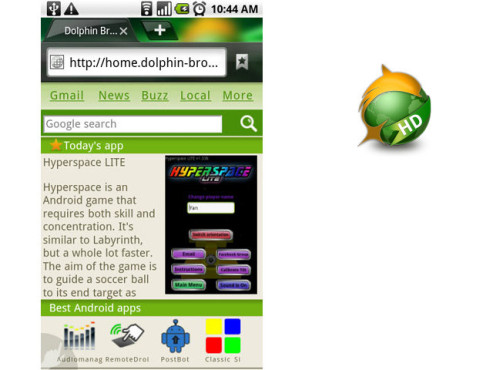 Dolphin Browser HD ©Dolphin Browser/androidexpress.files.wordpress.com