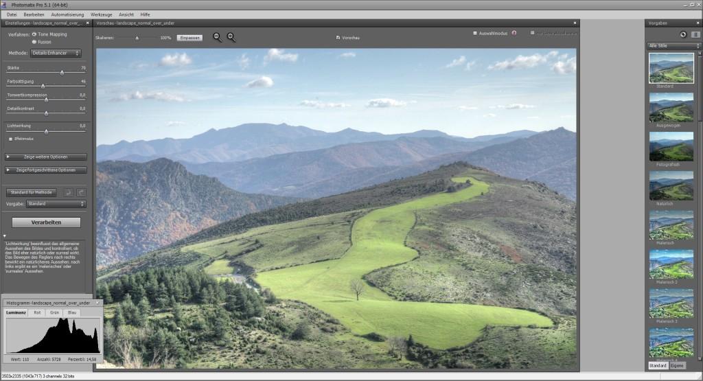 Screenshot 1 - Photomatix Pro