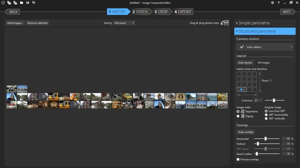 Screenshot 1 - Microsoft Image Composite Editor (64 Bit)