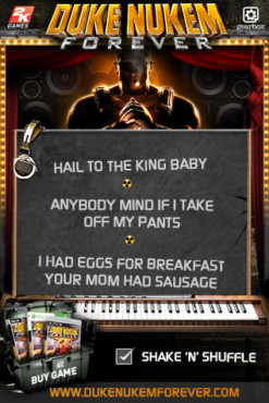 Duke Nukem Forever Soundboard © Take-Two