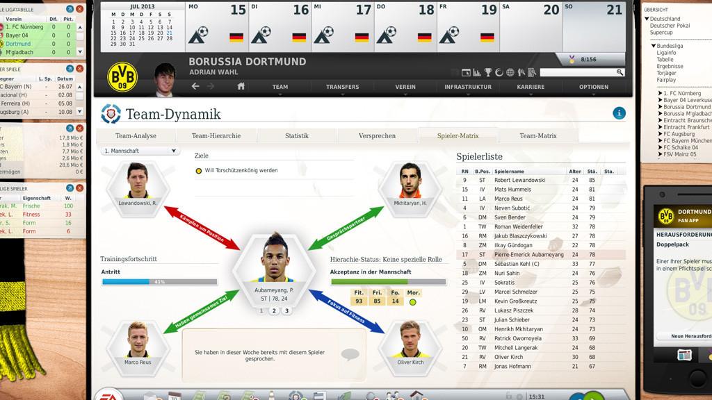 Fussball Manager 14 Reihe Beerdigt Computer Bild Spiele