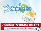 MySims2go: Jetzt g�nstige Reise-SIM-Karte bestellen!©COMPUTER BILD