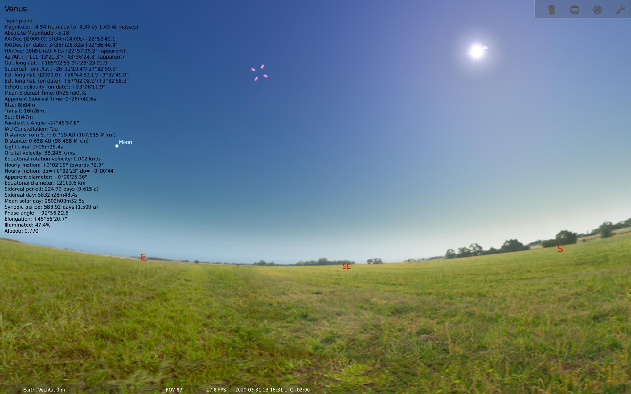 Screenshot 1 - Stellarium (Mac)