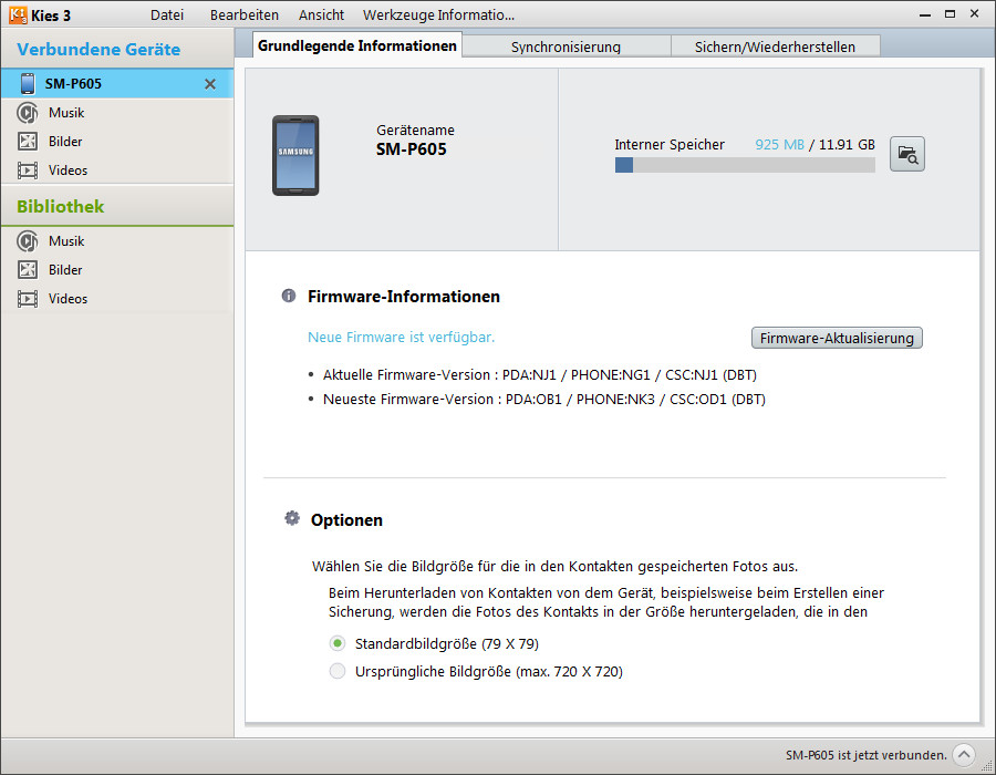 Screenshot 1 - Samsung Kies 3