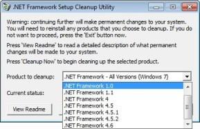 Microsoft .NET Framework Cleanup Tool