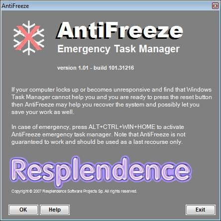 Screenshot 1 - AntiFreeze
