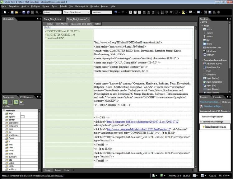 Screenshot 1 - Microsoft Expression Studio Ultimate