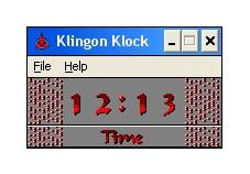 Screenshot 1 - Klingon Klock