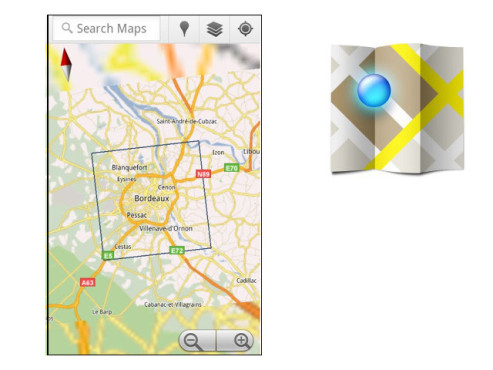 Google Maps 5.8 ©Google Inc.