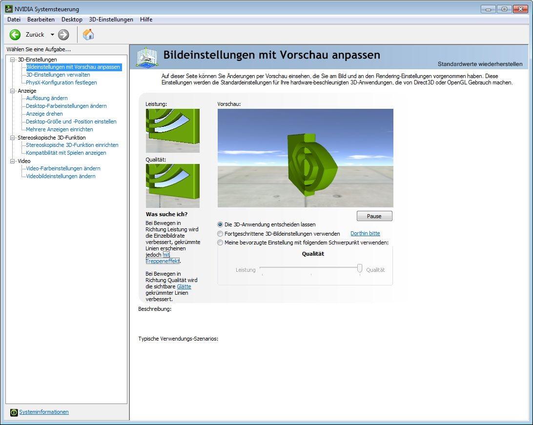 Screenshot 1 - Nvidia-GeForce-Treiber (Windows 7, 64 Bit)