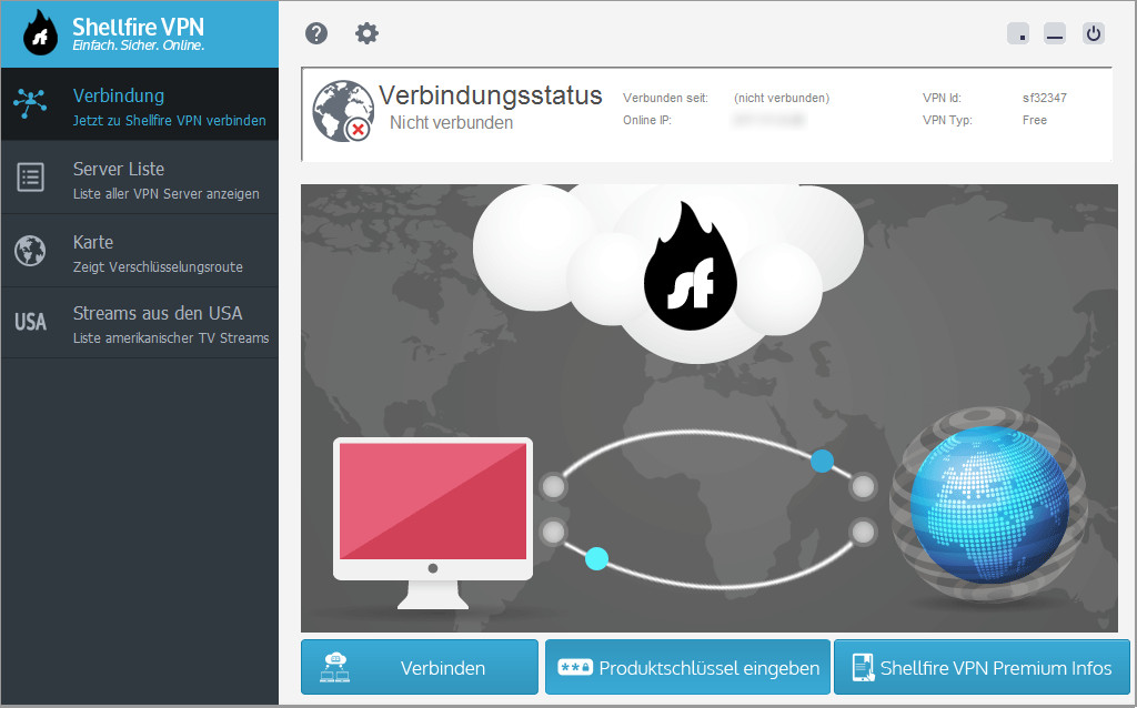Screenshot 1 - ShellfireVPN