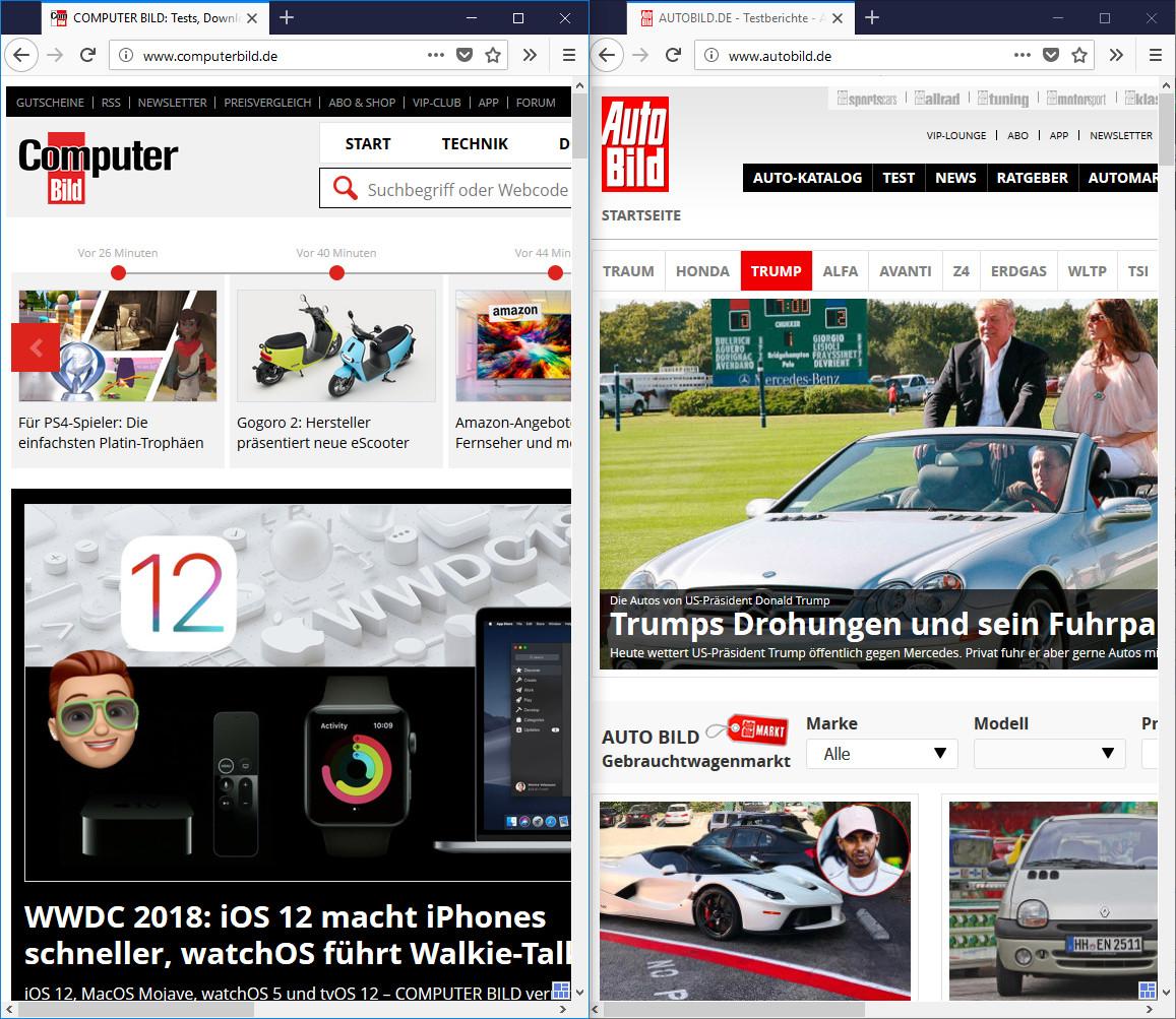 Screenshot 1 - Tile Tabs WE für Firefox