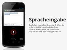 Android 4.0 Spracheingabe©Google