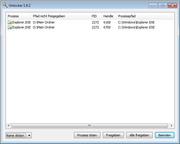 Screenshot 1 - Unlocker