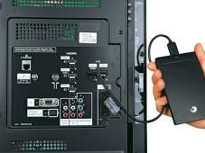 USB-Anschluss Panasonic TX-L32EW30©COMPUTER BILD