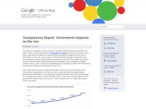 Google: Transparenz-Report©Google