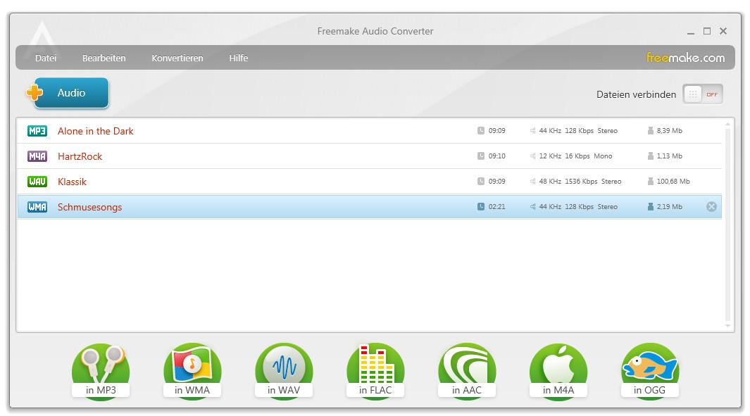 Screenshot 1 - Freemake Audio Converter