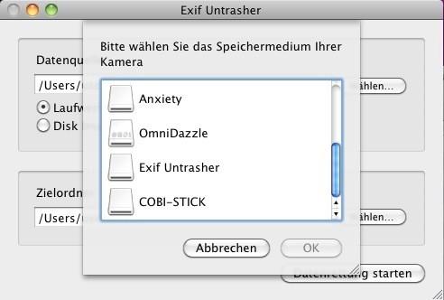 Screenshot 1 - Exif Untrasher (Mac)