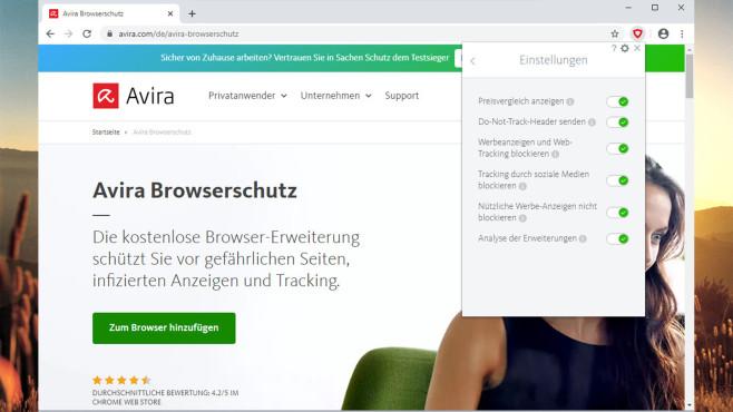 Avira Browserschutz©COMPUTER BILD, Avira