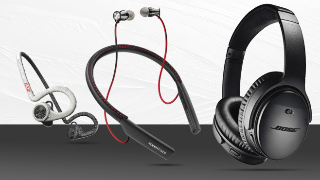 Weitere Kopfhörer ©Pixabay, Plantronics, Sennheiser, Bose