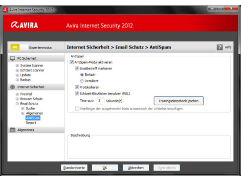 Avira Internet Security 2012: AntiSpam-Filter © COMPUTER BILD
