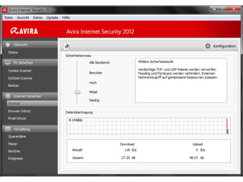 Avira Internet Security 2012: Firewall © COMPUTER BILD