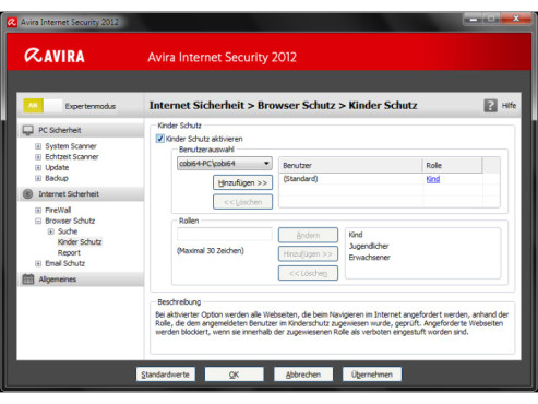 Avira Internet Security 2012: Kinderschutz © COMPUTER BILD