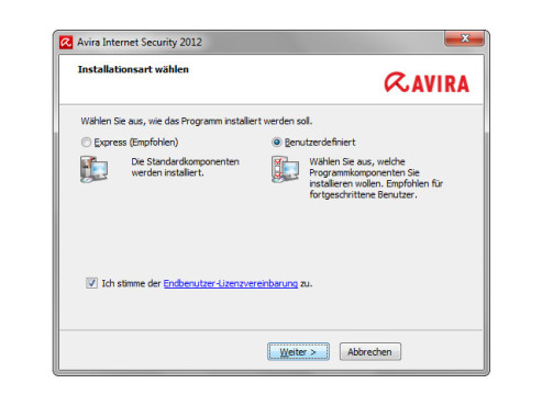 Avira Internet Security 2012 installieren © COMPUTER BILD