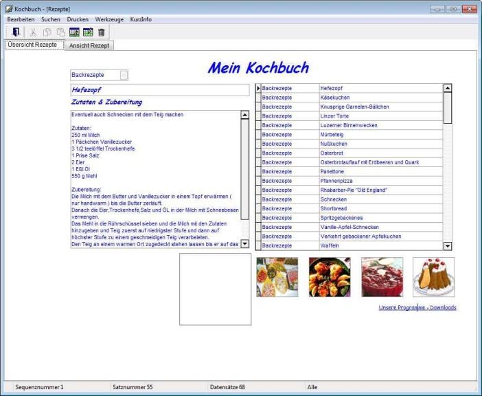 Screenshot 1 - Mein Kochbuch