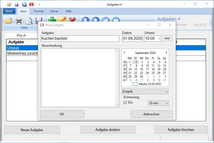 Screenshot 1 - Aufgaben