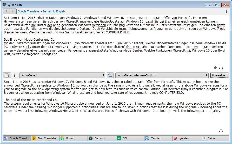 Screenshot 1 - QTranslate