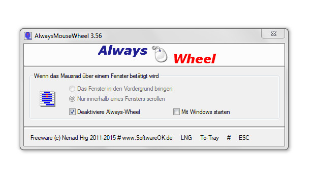 Screenshot 1 - AlwaysMouseWheel