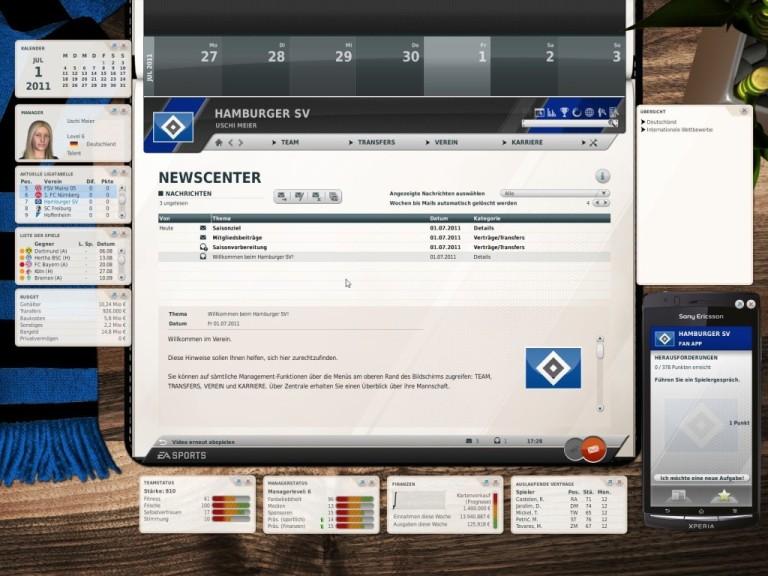 Screenshot 1 - Fußball Manager 12