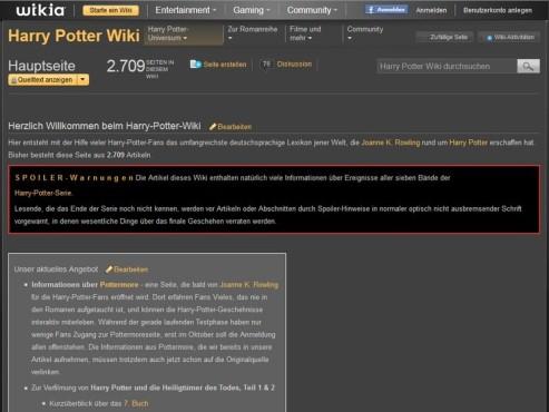 Screenshot Harry-Potter-Wiki ©COMPUTER BILD