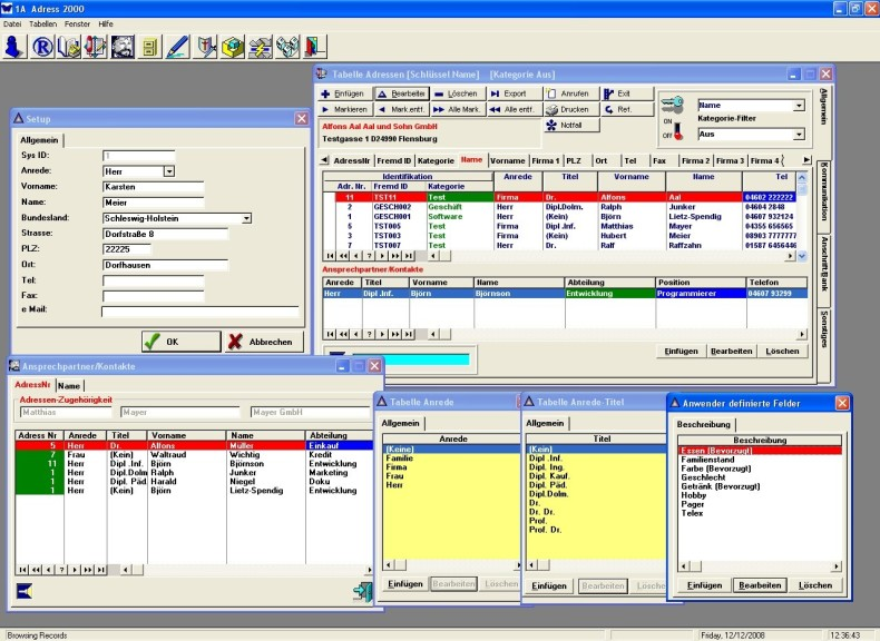 Screenshot 1 - 1A Adress 2000