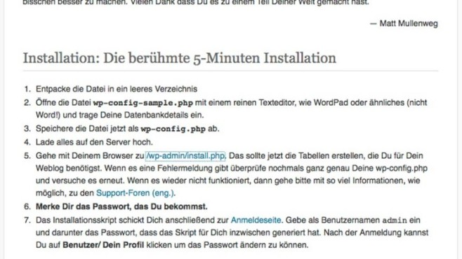 Wordpress-Installation © COMPUTER BILD