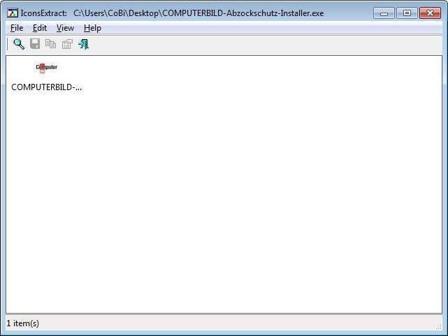 Screenshot 1 - IconsExtract