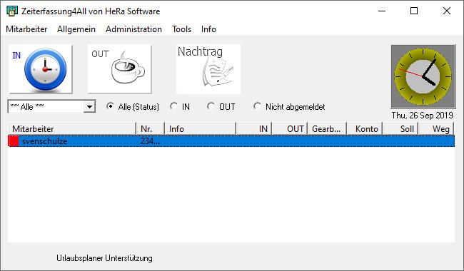Screenshot 1 - Zeiterfassung4All