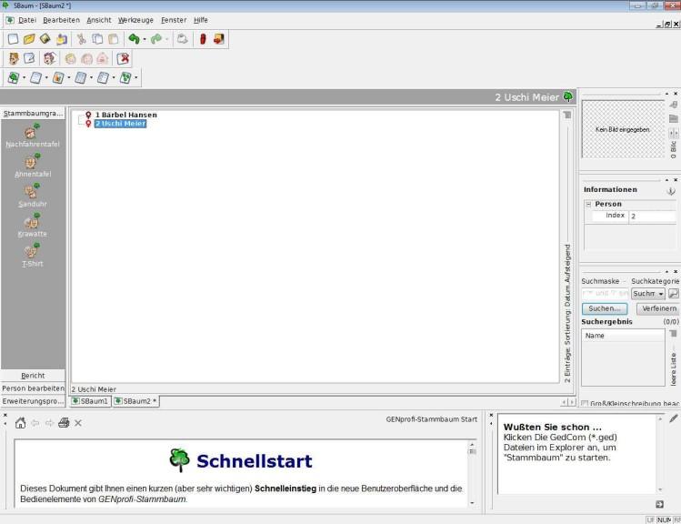 Screenshot 1 - GENprofi-Stammbaum