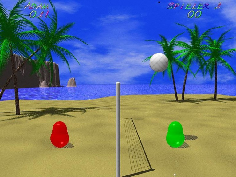 Screenshot 1 - Blobby Volley