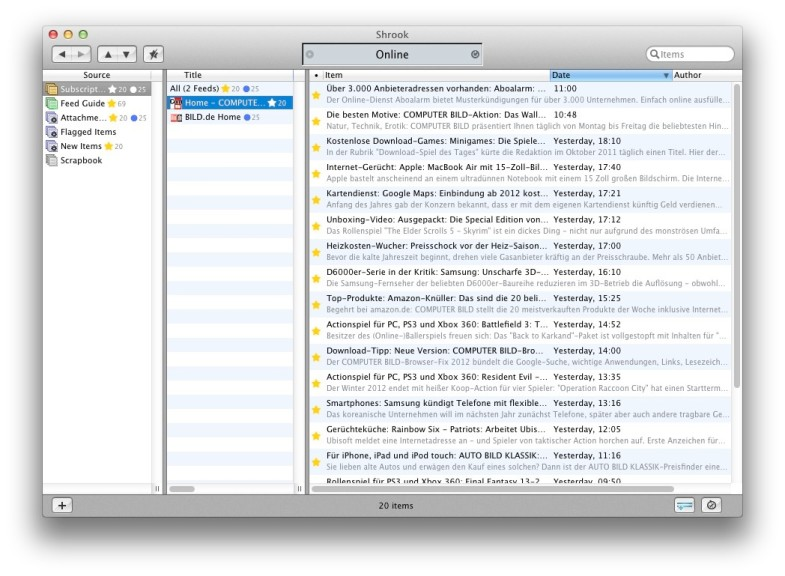 Screenshot 1 - Shrook (Mac)