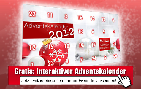 Gratis: Online-Adventskalender mit eigenen Fotos füllen und an Freunde senden!©computerbild.de, Lily - Fotolia.com