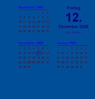Screenshot 1 - Wallpaper-Kalender