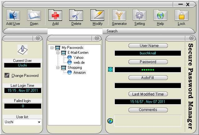 Screenshot 1 - Secure Password Manager